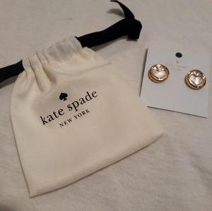 Kate Spade signature large stud earrings
